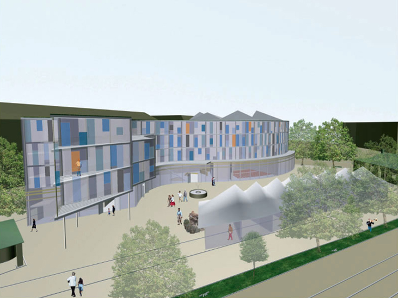 Simmeringer Markt, Music School, Library, Adult Education Centre | UK Construction